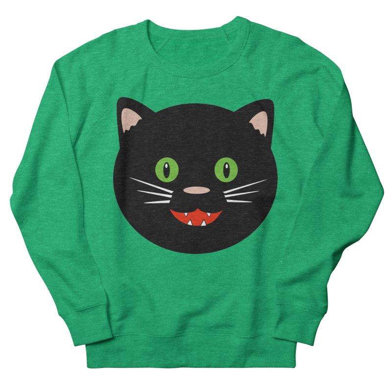 Happy Black Cat Women's Sweatshirt by elledeegee's Artist Shop