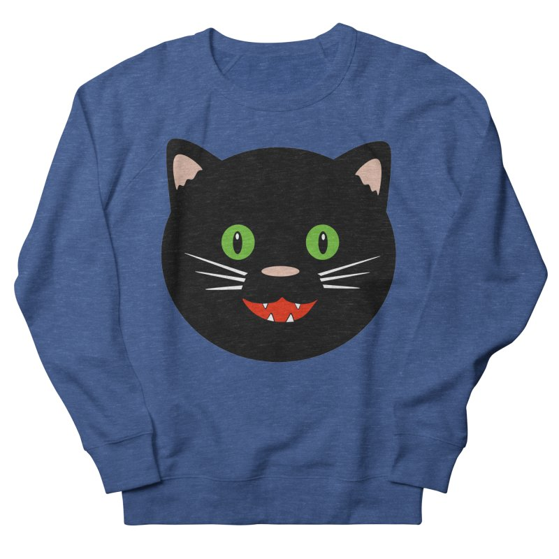 Happy Black Cat Women's French Terry Sweatshirt by elledeegee's Artist Shop