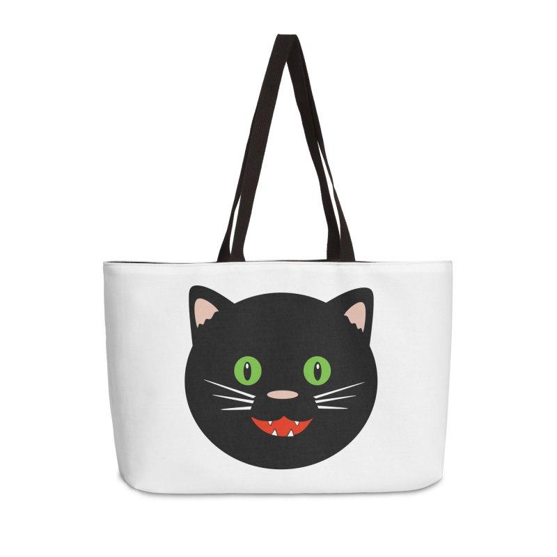 Happy Black Cat Accessories Bag by elledeegee's Artist Shop