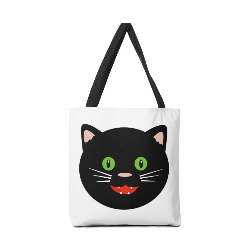 Happy Black Cat Accessories Tote Bag Bag by elledeegee's Artist Shop