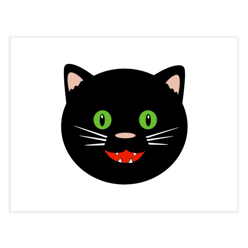 Happy Black Cat Home Fine Art Print by elledeegee's Artist Shop