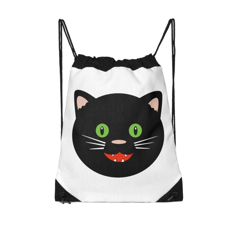 Happy Black Cat Accessories Bag by elledeegee's Artist Shop
