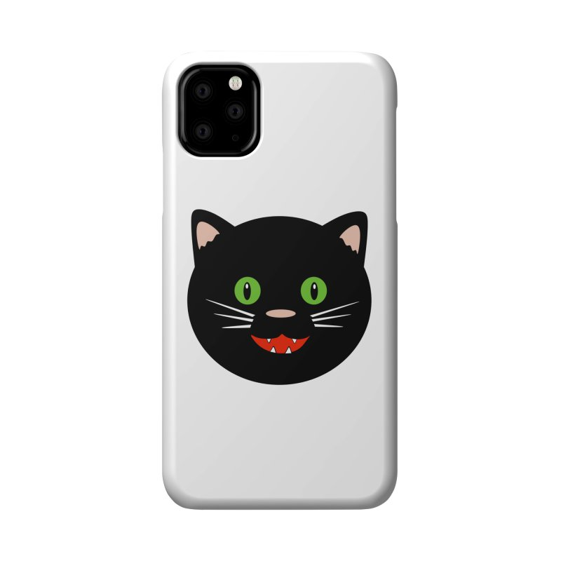Happy Black Cat Accessories Phone Case by elledeegee's Artist Shop