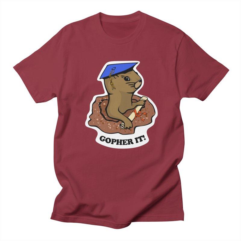 Gopher it, Graduate! Men's T-Shirt by elledeegee's Artist Shop