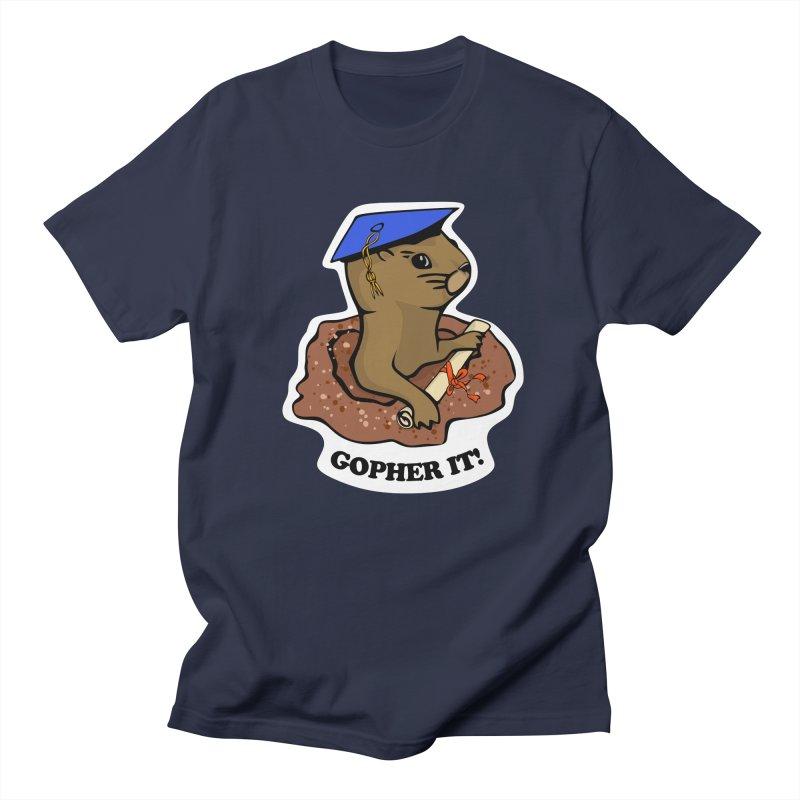 Gopher it, Graduate! Men's Regular T-Shirt by elledeegee's Artist Shop