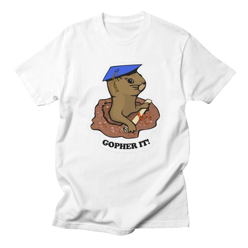 Gopher it, Graduate! Men's Regular T-Shirt by elledeegee's Artist Shop