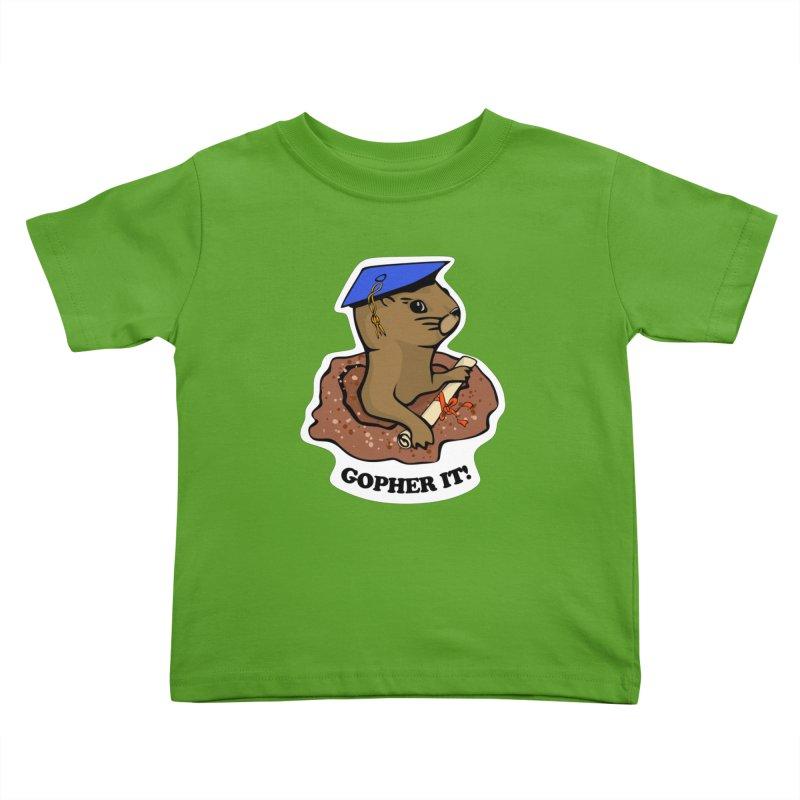 Gopher it, Graduate! Kids Toddler T-Shirt by elledeegee's Artist Shop