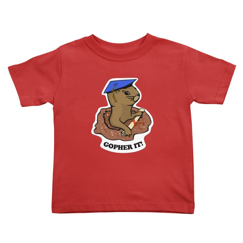 Gopher it, Graduate! Kids Toddler T-Shirt by elledeegee's Artist Shop