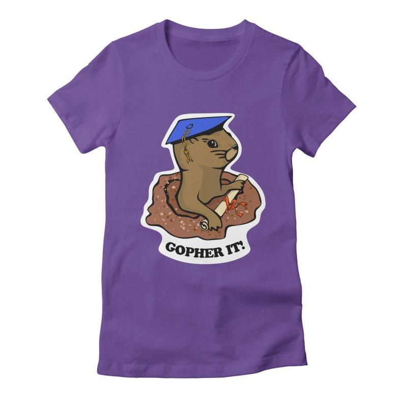Gopher it, Graduate! Women's Fitted T-Shirt by elledeegee's Artist Shop