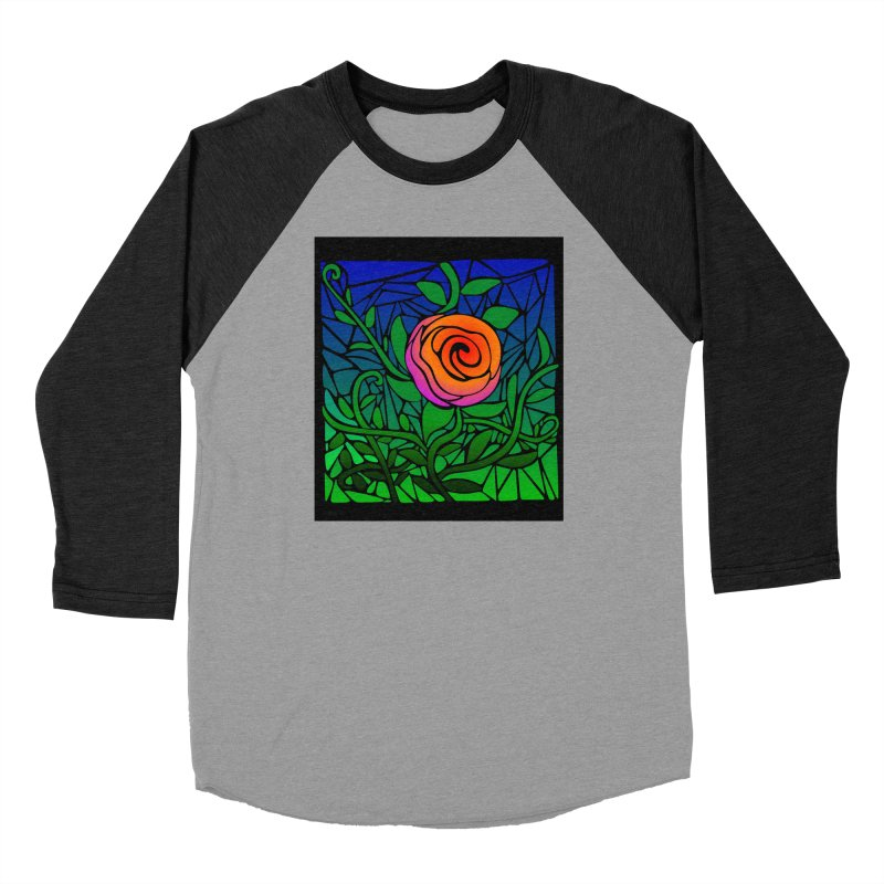 Thorny Roses Stained Glass Men's Longsleeve T-Shirt by elledeegee's Artist Shop