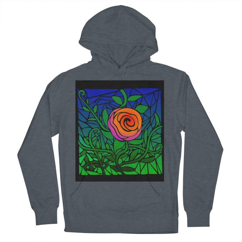 Thorny Roses Stained Glass Women's Pullover Hoody by elledeegee's Artist Shop