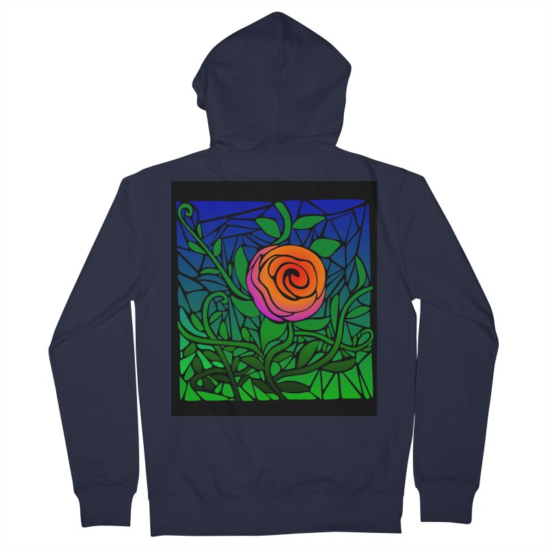 Thorny Roses Stained Glass Women's Zip-Up Hoody by elledeegee's Artist Shop