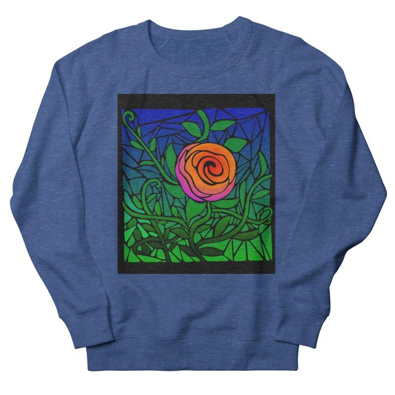 Thorny Roses Stained Glass Men's Sweatshirt by elledeegee's Artist Shop