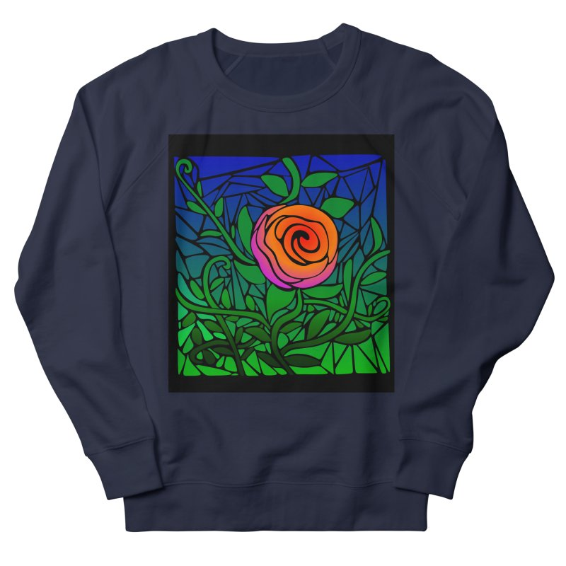 Thorny Roses Stained Glass Men's Sweatshirt by elledeegee's Artist Shop