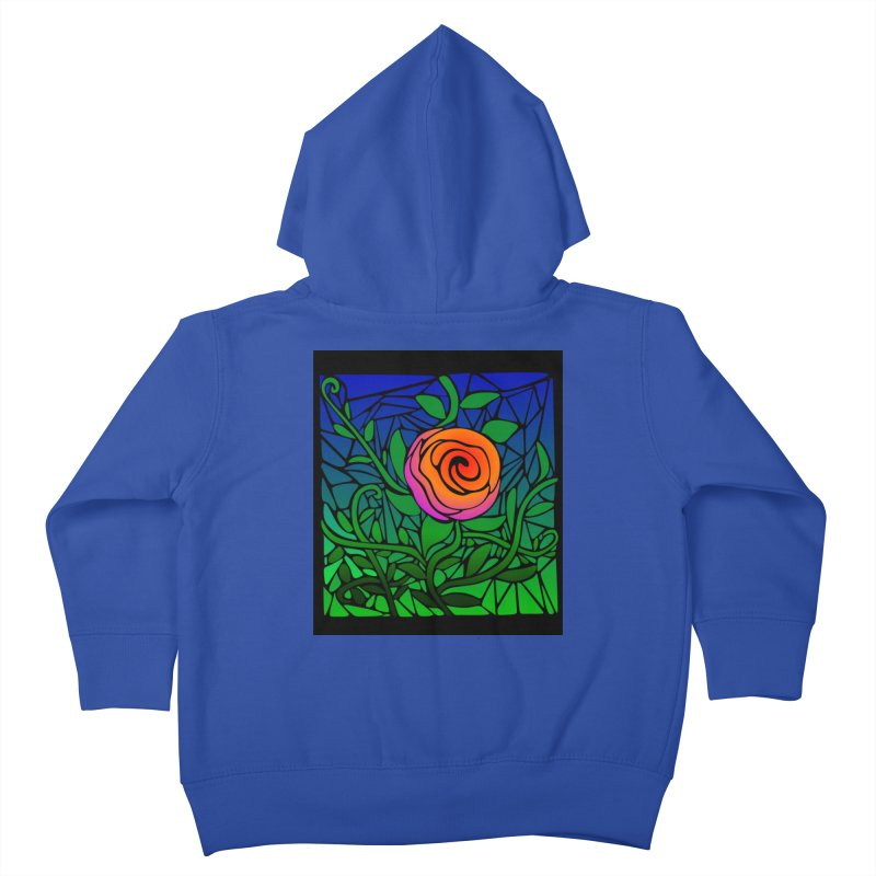Thorny Roses Stained Glass Kids Toddler Zip-Up Hoody by elledeegee's Artist Shop