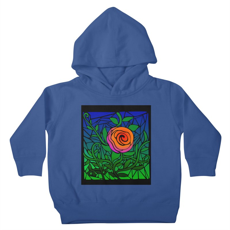 Thorny Roses Stained Glass Kids Toddler Pullover Hoody by elledeegee's Artist Shop