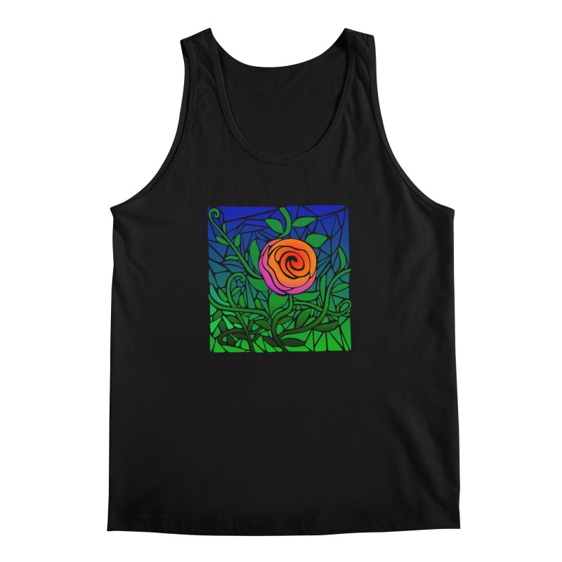 Thorny Roses Stained Glass Men's Regular Tank by elledeegee's Artist Shop