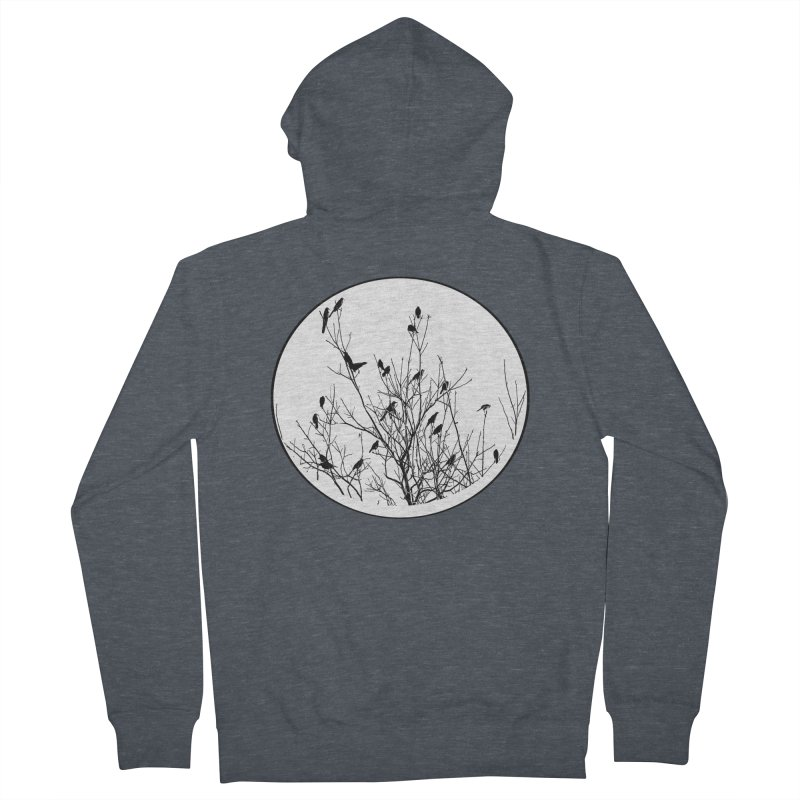 Grackle Tree Women's Zip-Up Hoody by elledeegee's Artist Shop