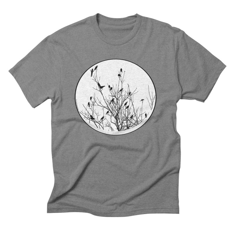 Grackle Tree Men's Triblend T-Shirt by elledeegee's Artist Shop