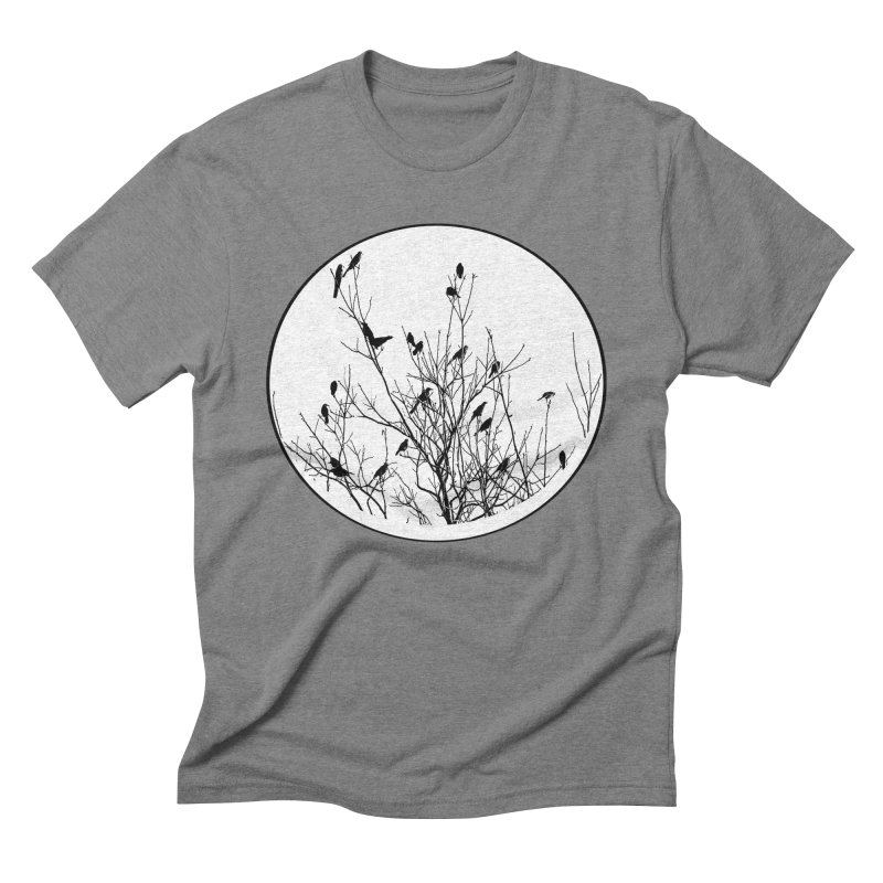 Grackle Tree Men's Triblend T-shirt by elledeegee's Artist Shop