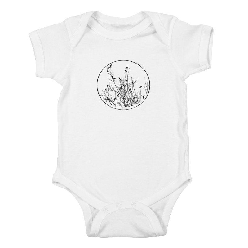 Grackle Tree Kids Baby Bodysuit by elledeegee's Artist Shop