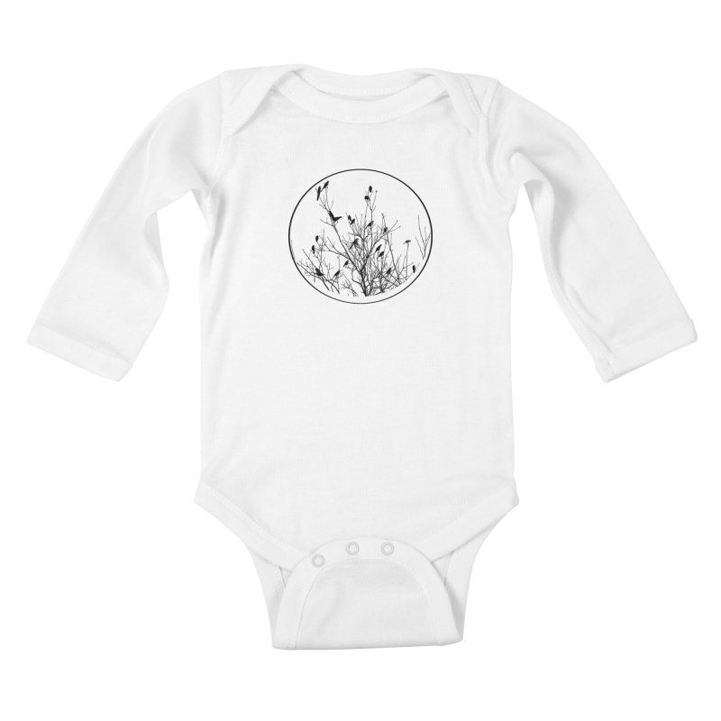 Grackle Tree Kids Baby Longsleeve Bodysuit by elledeegee's Artist Shop