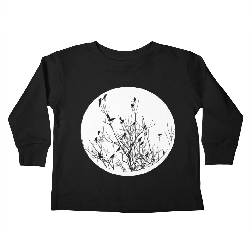 Grackle Tree Kids Toddler Longsleeve T-Shirt by elledeegee's Artist Shop