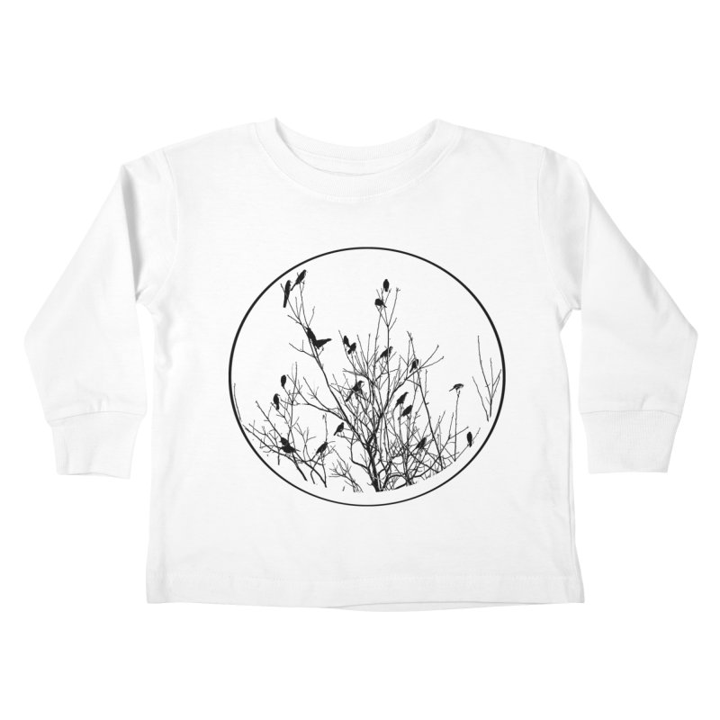 Grackle Tree Kids Toddler Longsleeve T-Shirt by elledeegee's Artist Shop