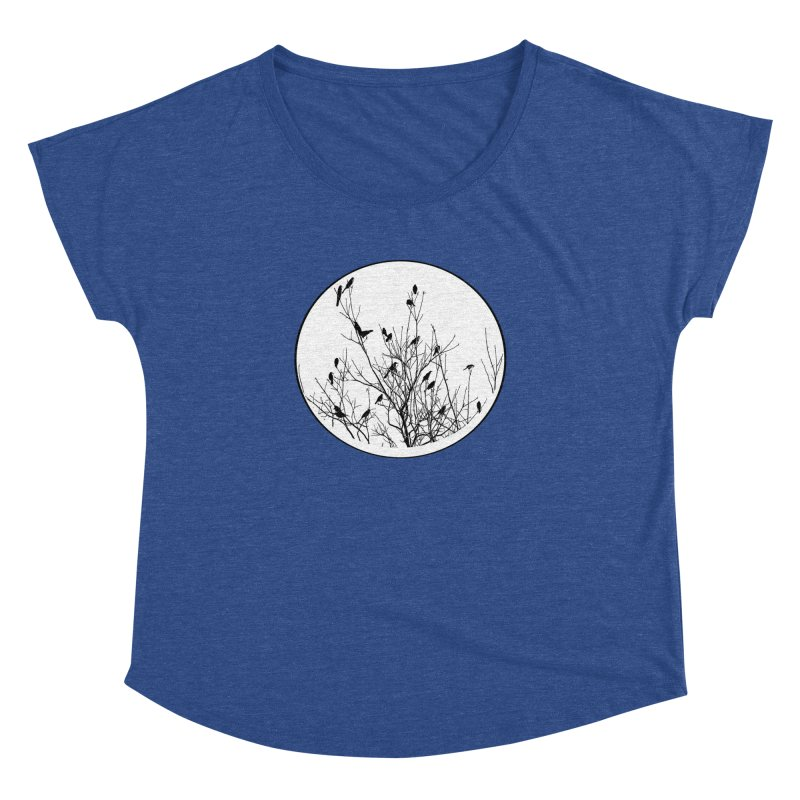 Grackle Tree Women's Dolman Scoop Neck by elledeegee's Artist Shop