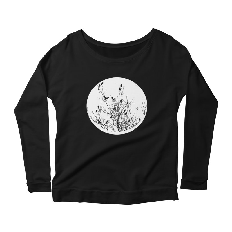 Grackle Tree Women's Scoop Neck Longsleeve T-Shirt by elledeegee's Artist Shop
