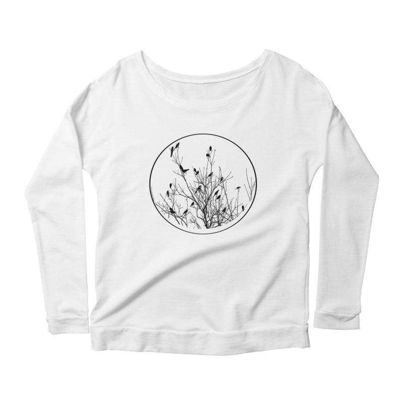 Grackle Tree Women's Scoop Neck Longsleeve T-Shirt by elledeegee's Artist Shop