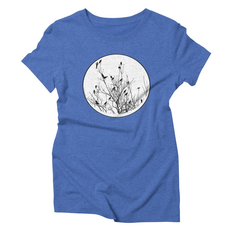 Grackle Tree Women's Triblend T-shirt by elledeegee's Artist Shop