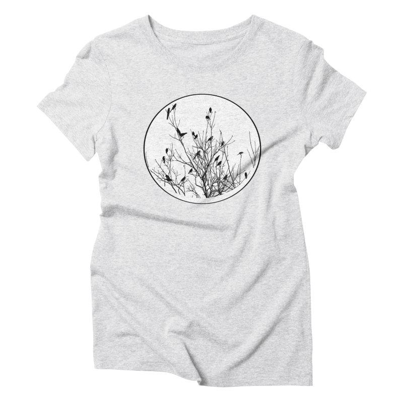 Grackle Tree Women's Triblend T-Shirt by elledeegee's Artist Shop