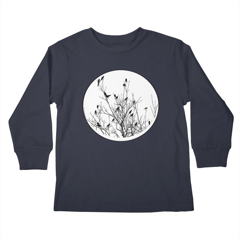 Grackle Tree Kids Longsleeve T-Shirt by elledeegee's Artist Shop