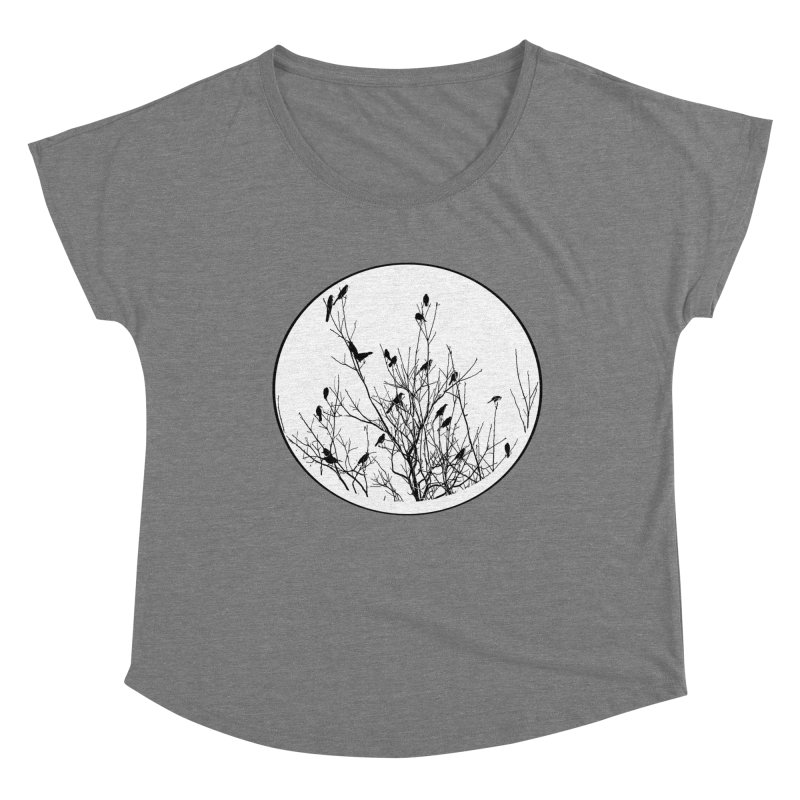 Grackle Tree Women's Scoop Neck by elledeegee's Artist Shop