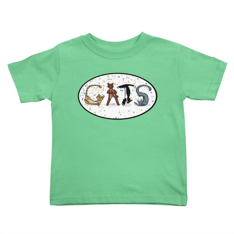 CATS can spell Kids Toddler T-Shirt by elledeegee's Artist Shop