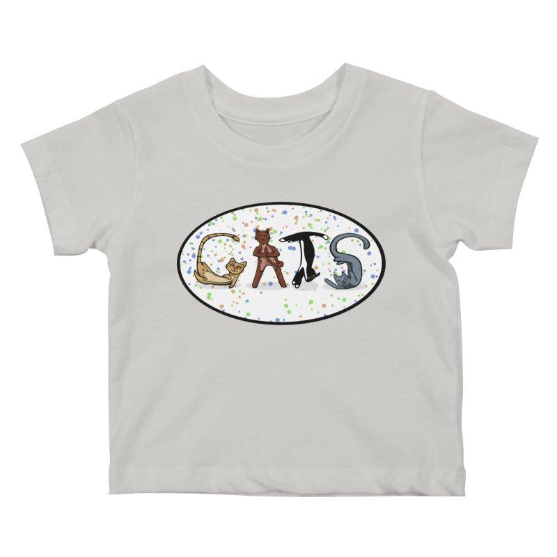 CATS can spell Kids Baby T-Shirt by elledeegee's Artist Shop