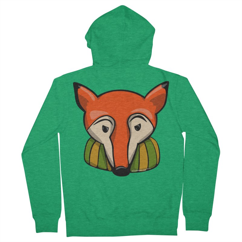 Foxy Women's Zip-Up Hoody by elledeegee's Artist Shop