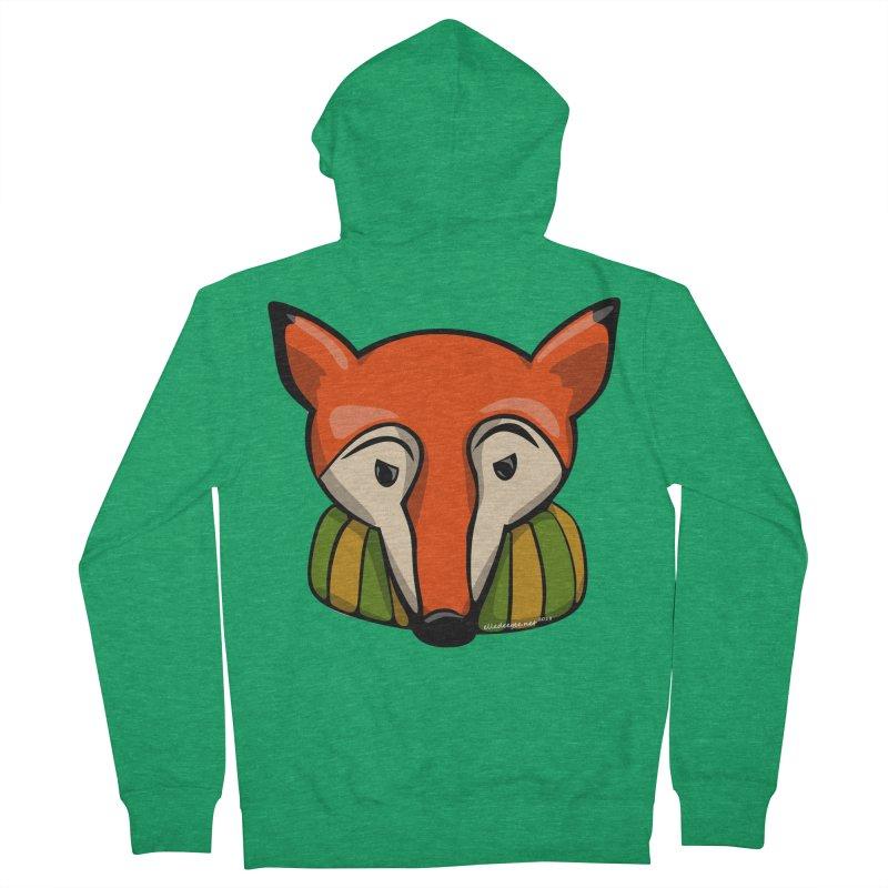 Foxy Men's Zip-Up Hoody by elledeegee's Artist Shop