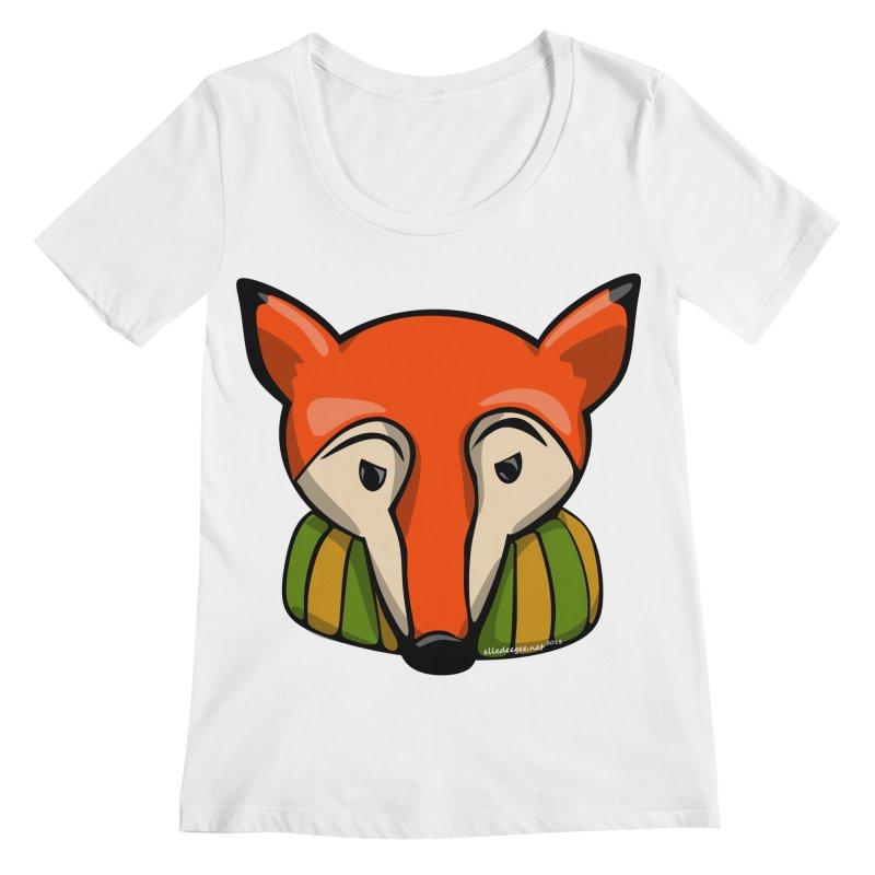 Foxy Women's Regular Scoop Neck by elledeegee's Artist Shop