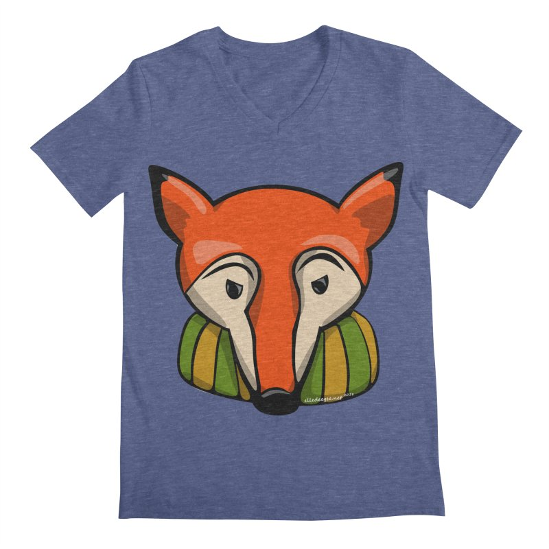 Foxy Men's Regular V-Neck by elledeegee's Artist Shop