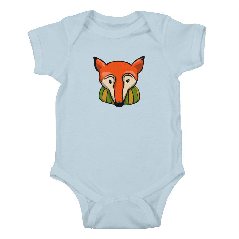 Foxy Kids Baby Bodysuit by elledeegee's Artist Shop