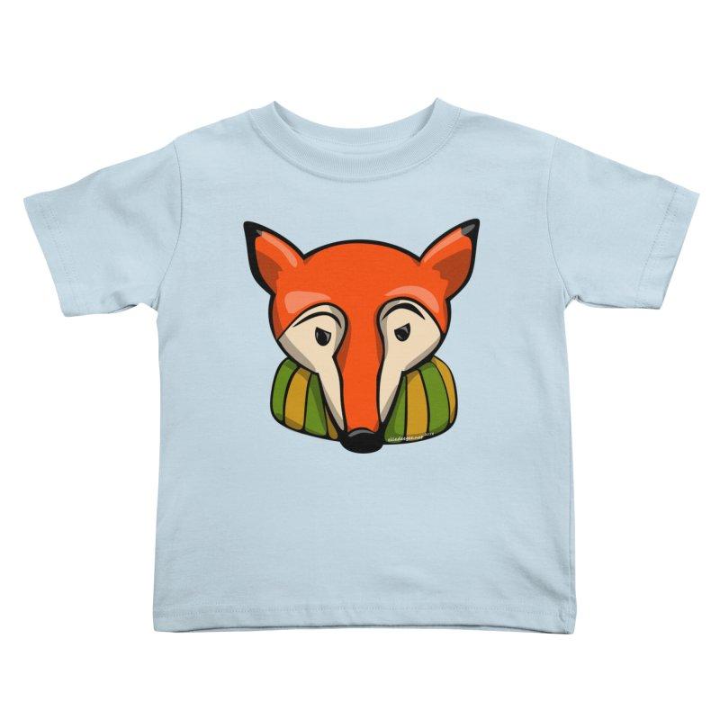 Foxy Kids Toddler T-Shirt by elledeegee's Artist Shop
