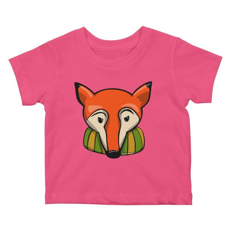 Foxy Kids Baby T-Shirt by elledeegee's Artist Shop