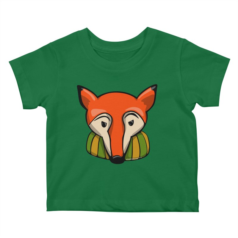 Foxy Kids Baby T-Shirt by elledeegee's Artist Shop