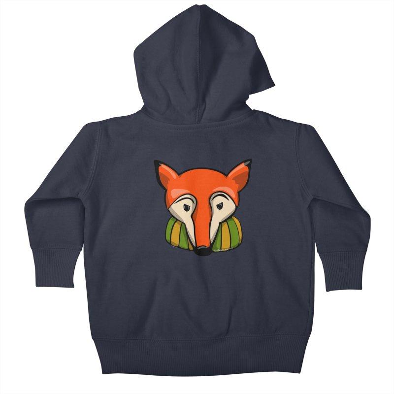 Foxy Kids Baby Zip-Up Hoody by elledeegee's Artist Shop