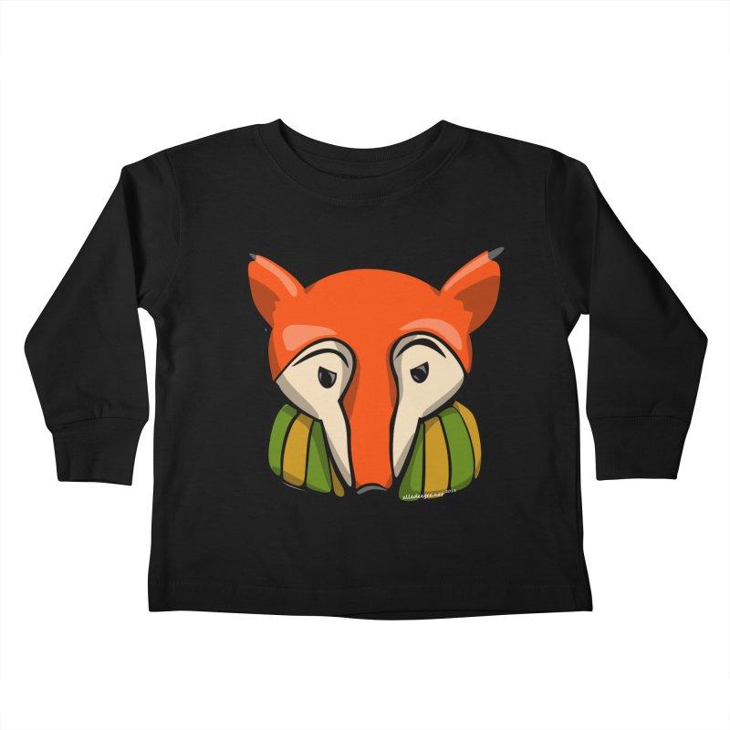 Foxy Kids Toddler Longsleeve T-Shirt by elledeegee's Artist Shop