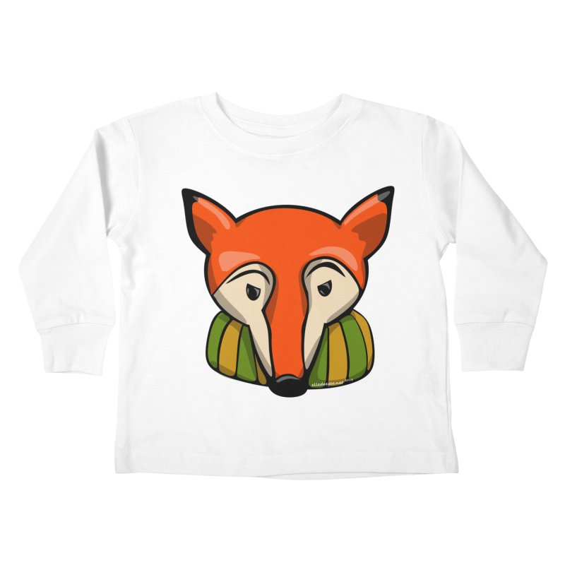 Foxy Kids Toddler Longsleeve T-Shirt by elledeegee's Artist Shop