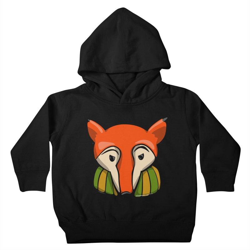 Foxy Kids Toddler Pullover Hoody by elledeegee's Artist Shop