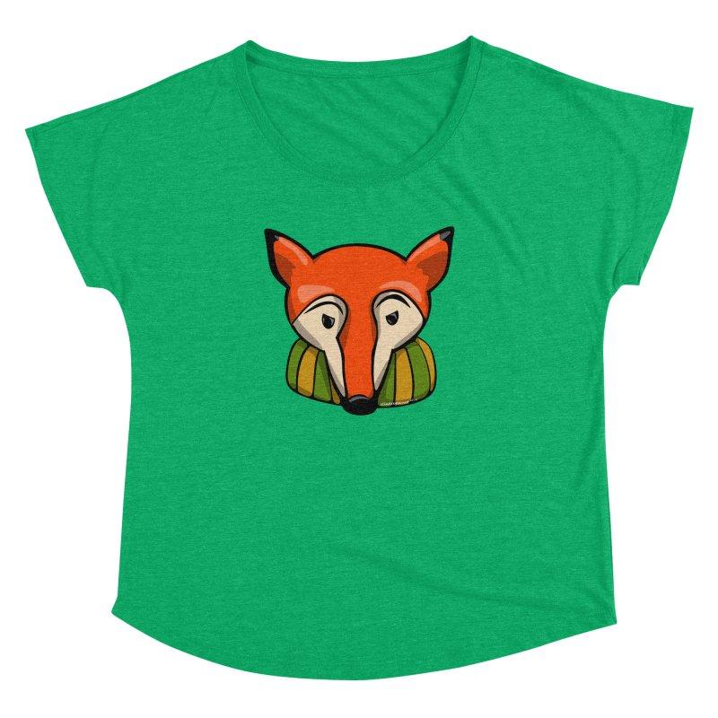 Foxy Women's Dolman Scoop Neck by elledeegee's Artist Shop